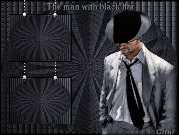 The man with the black hat